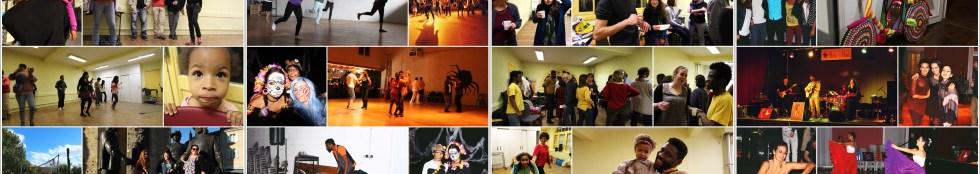 Bandeau de photos d'activités de la Rose des Vents
