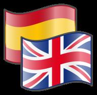 Drapeaux anglais et espagnol